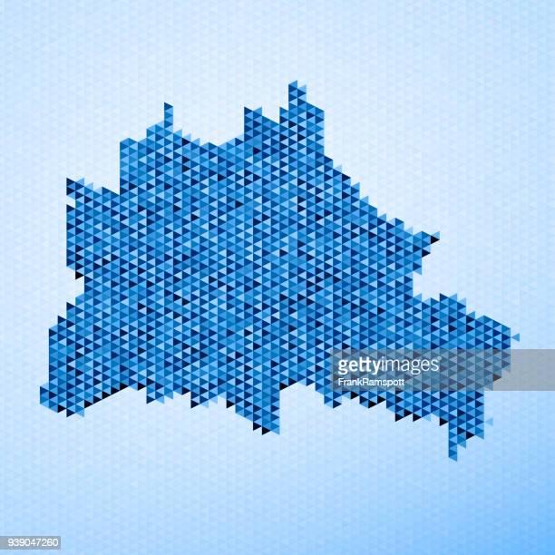 Berlin Map Triangle Pattern Blue