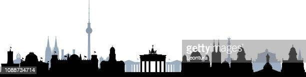 berlin (all buildings are separate and complete) - berlin stock illustrations
