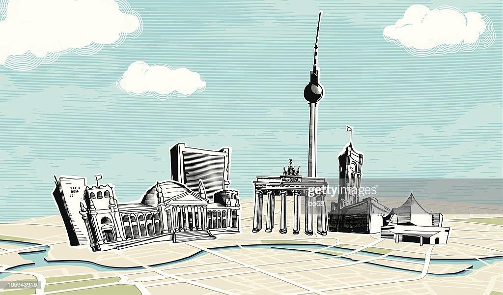 Berlin : stock illustration