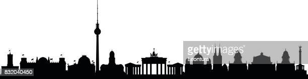 berlin - skyline stock illustrations