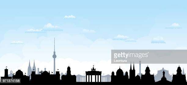 berlin (all buildings are complete and moveable) - brandenburg gate stock illustrations, clip art, cartoons, & icons