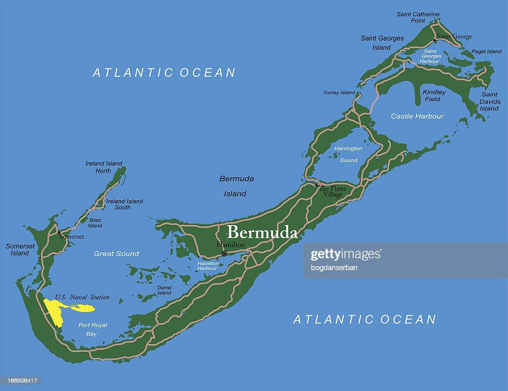 Bermuda Map Vector Art | Getty Images