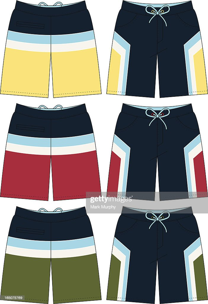 Bermuda Style Board Short with Strip Detail