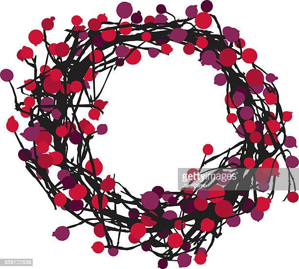 Berry Wreath Silhouette