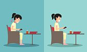 Best and worst positions for playing smart phone