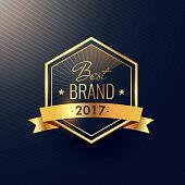 best brand of 2017 golden label design
