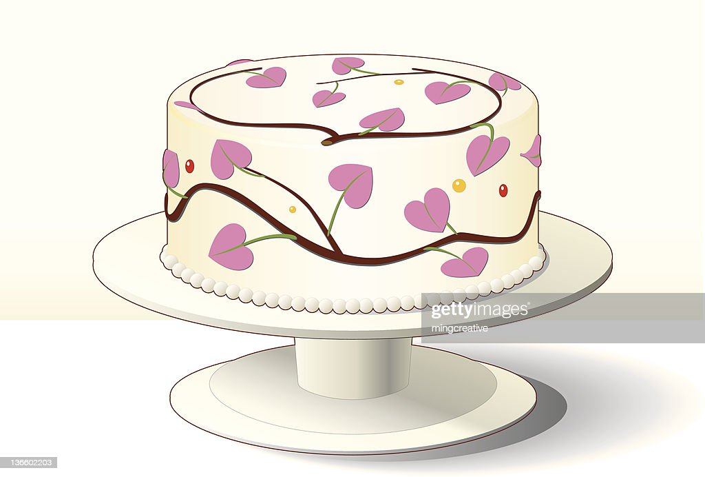 Best cake with pink heart decoration for Valentine