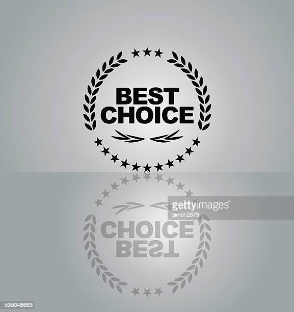 best choice emblem - proofreading stock illustrations, clip art, cartoons, & icons