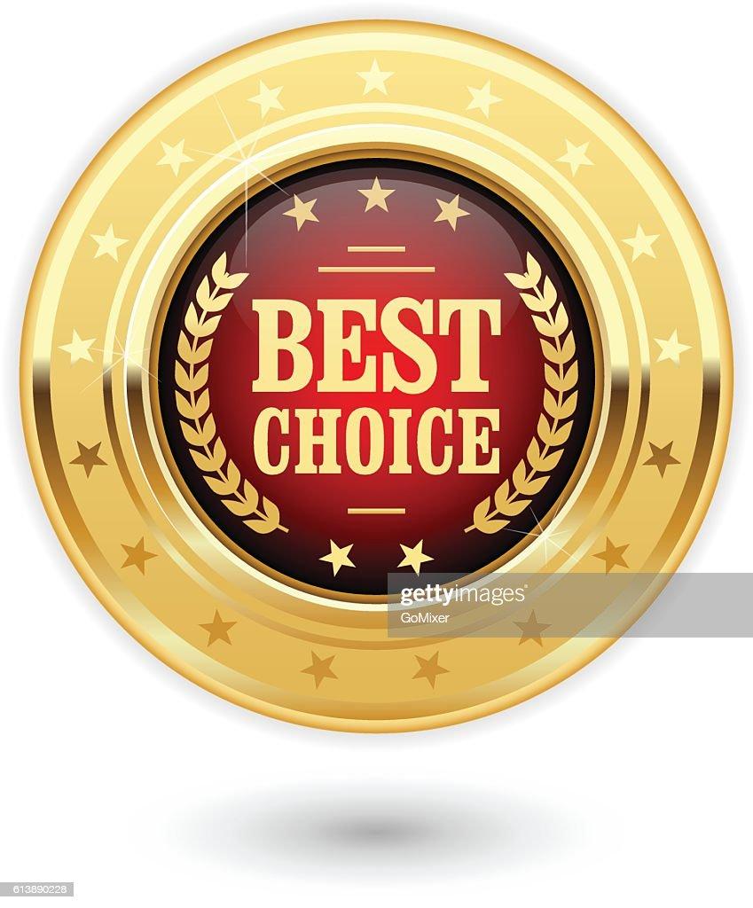 Best choice - golden insignia (medal)