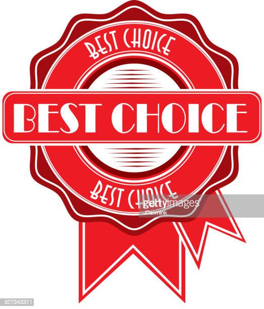 Best choice red Award ribbons