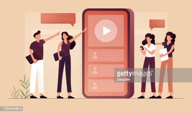illustrazioni stock, clip art, cartoni animati e icone di tendenza di miglior illustrazione vettoriale del concetto di contenuto. design moderno piatto per pagina web, banner, presentazione ecc. - rosa pallido