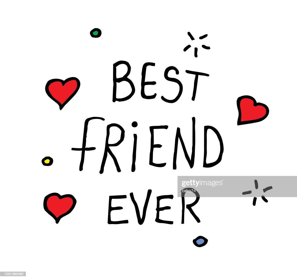 Best friend hand drawn illustration : Stock Illustration