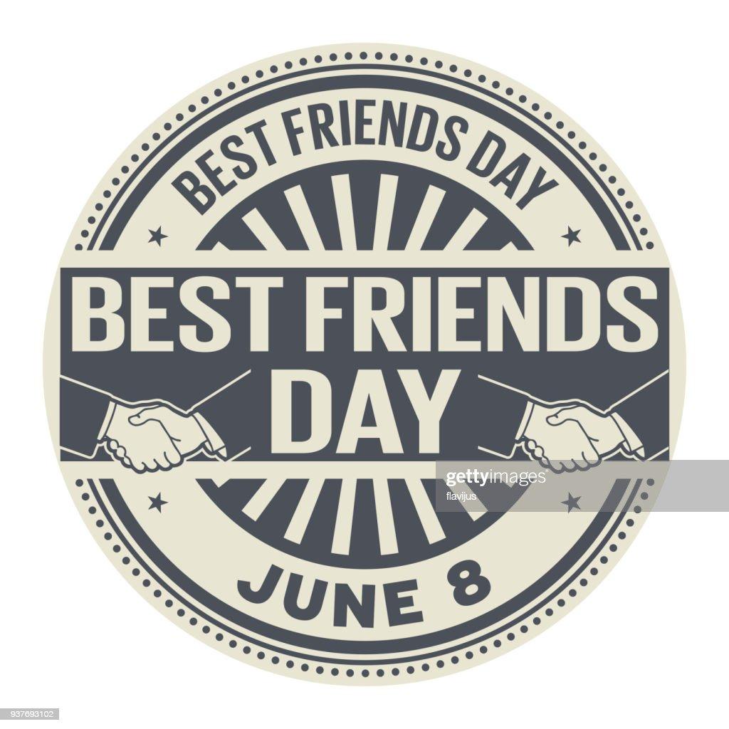 Best Friends Day stamp