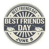 Best Friends Day stamp