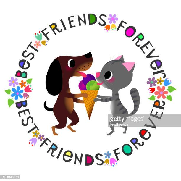 best friends forever.92105175 - licking stock illustrations, clip art, cartoons, & icons