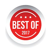 Best of 2017 label on white background