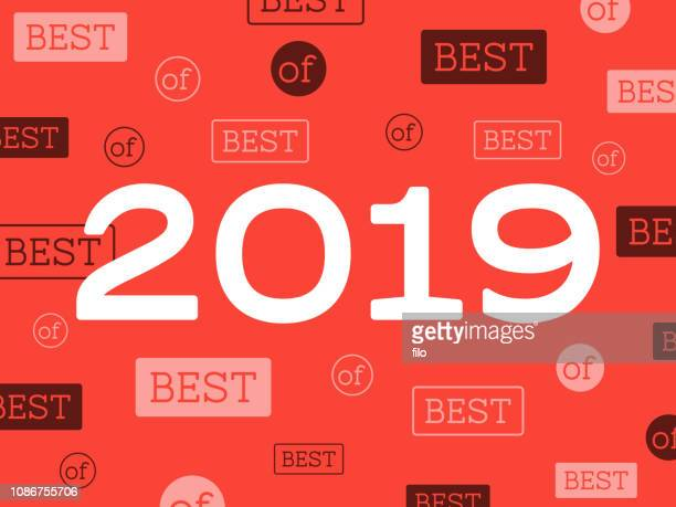 best of 2019 new year background - 2019 stock illustrations