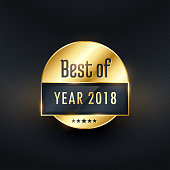best of the year golden label design
