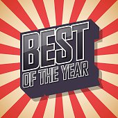 Best of the year. Poster Comic Speech Bubble. Vector illustratio