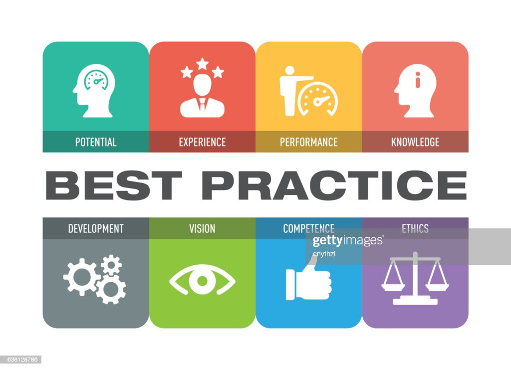 Best Practice Icon Set : stock illustration