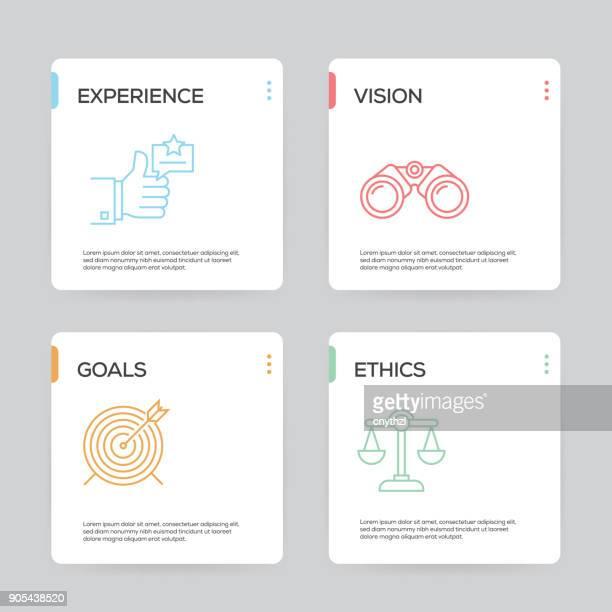 ilustrações de stock, clip art, desenhos animados e ícones de best practice infographic design template - modelo ocupação