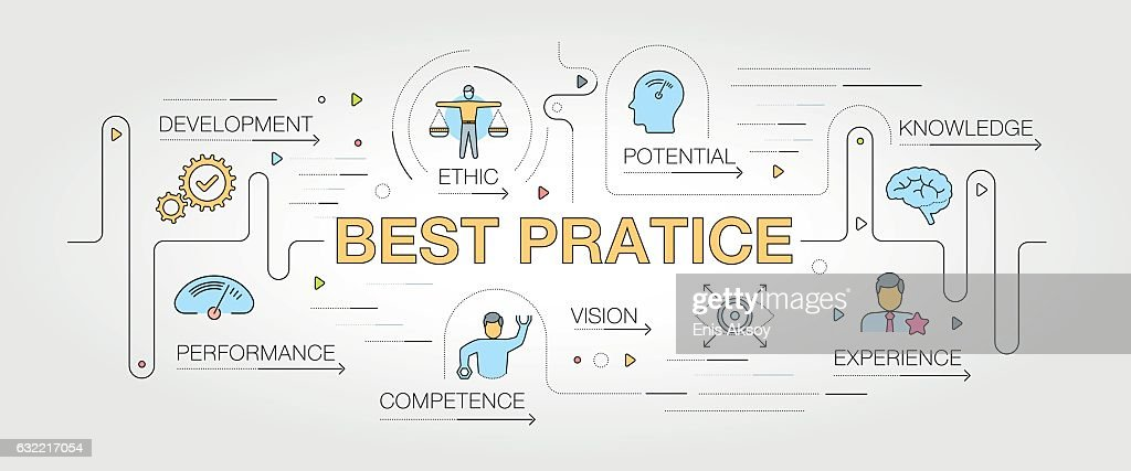 Best Practice keywords with icons : stock illustration