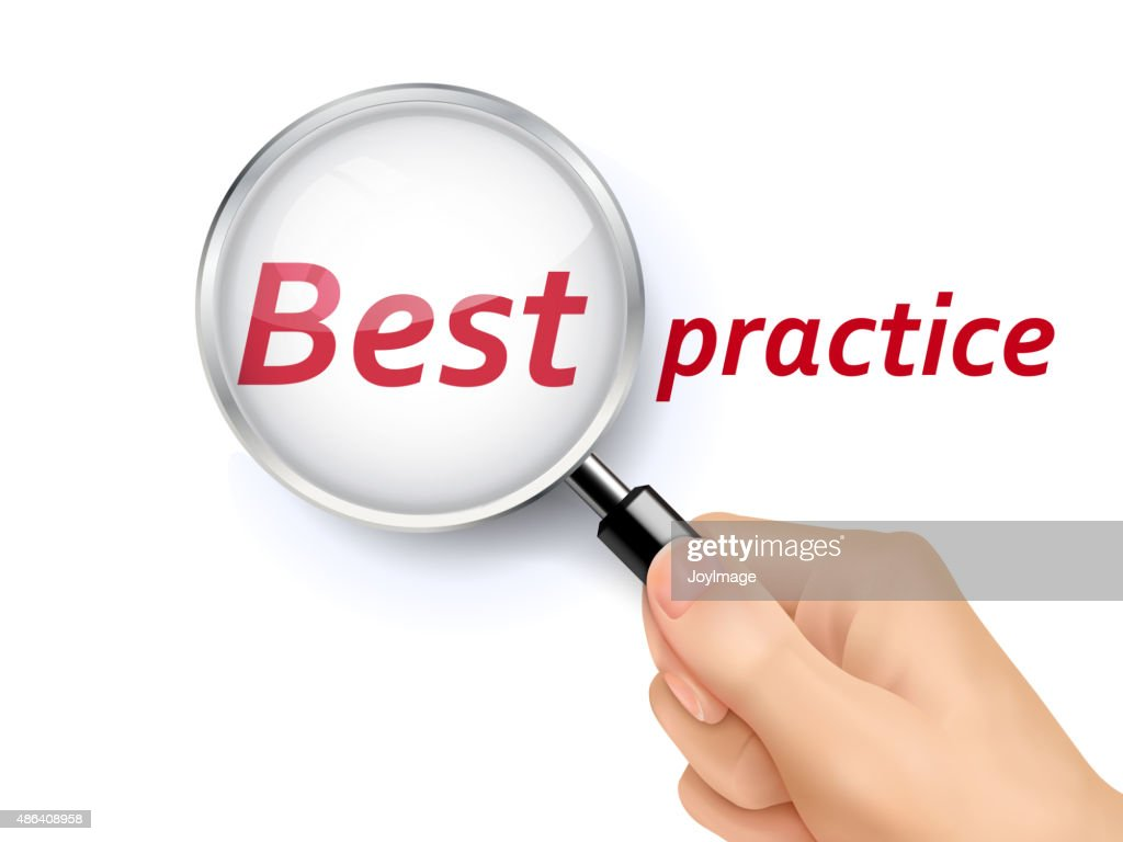 best practice showing through magnifying glass