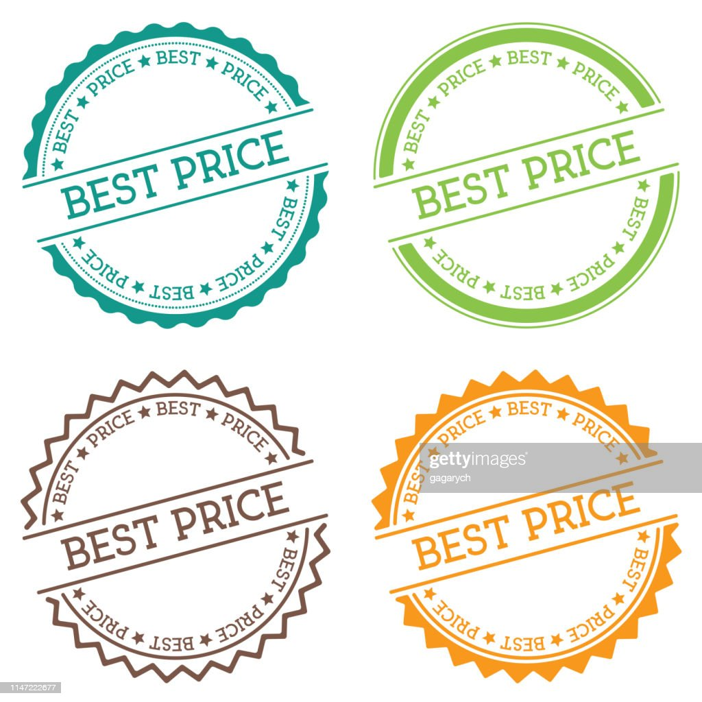 Best price badge isolated on white background.