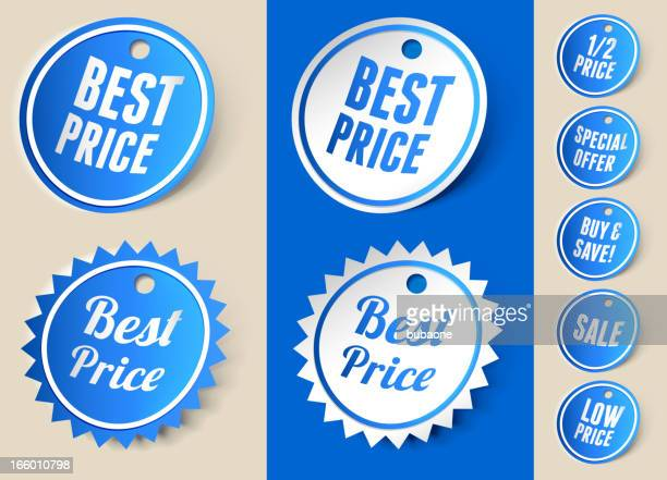 Best Price Sale Sign Ribbon Tag