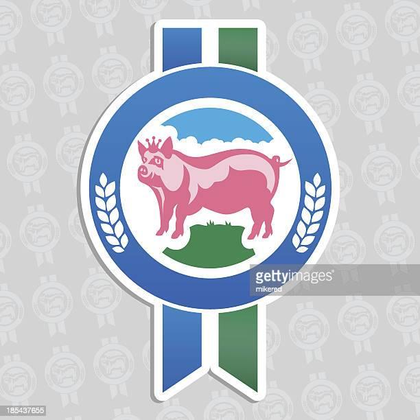 best quality pork - zea stock illustrations, clip art, cartoons, & icons