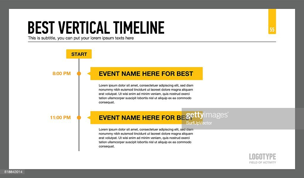 Best Vertical Timeline Template 1