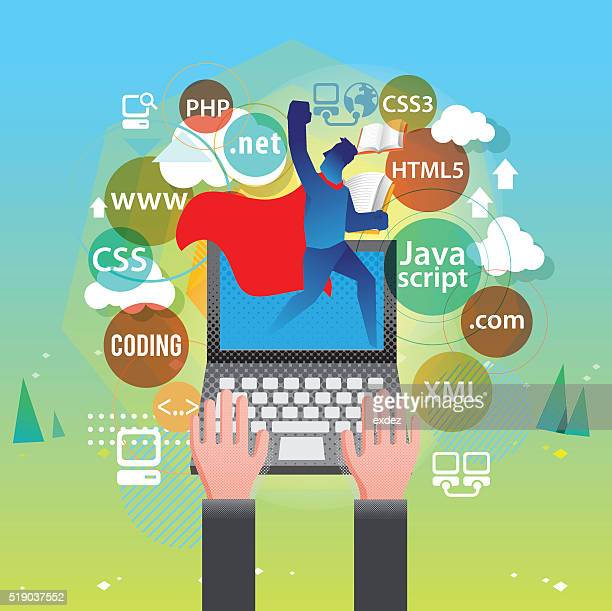 best web developer - html stock illustrations, clip art, cartoons, & icons