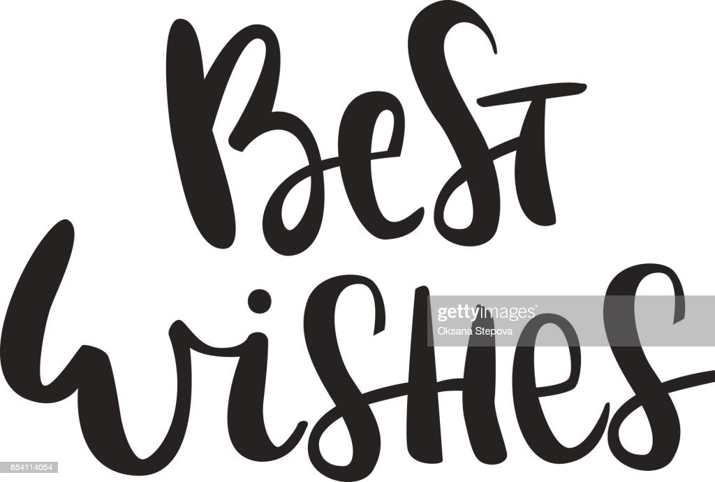 Best Wishes Hand Drawn Christmas Lettering Quote Cute New Year ...