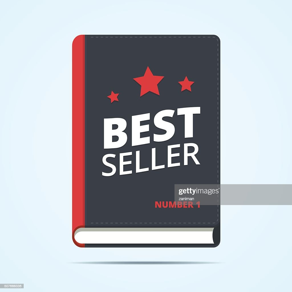 Bestseller book icon.