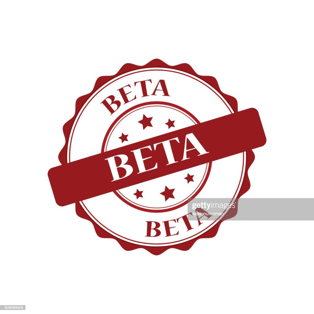 beta red stamp illustration