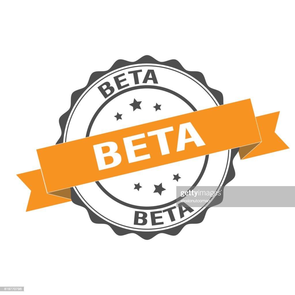 Beta stamp illustration