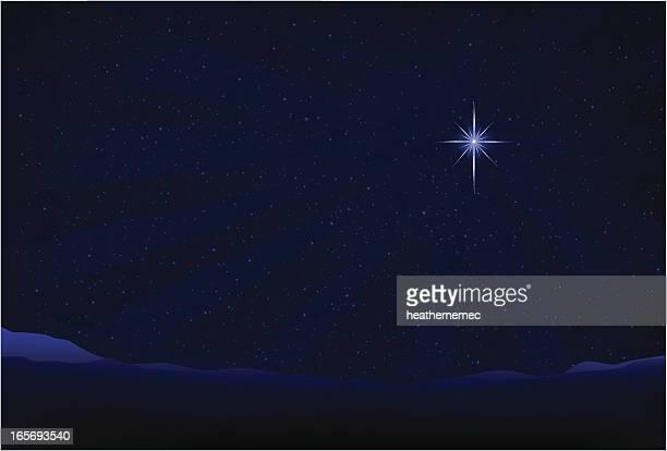 ilustraciones, imágenes clip art, dibujos animados e iconos de stock de estrella de belén - nacimiento de navidad