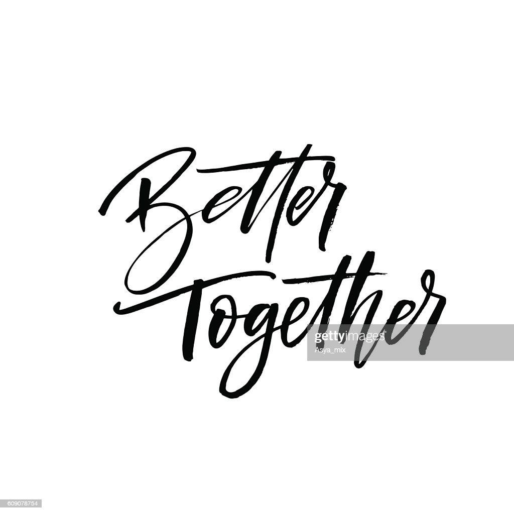 Better together postcard.