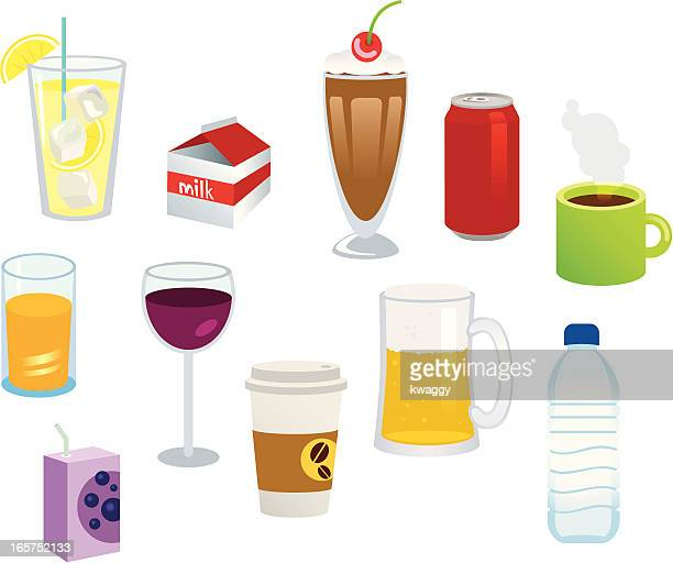 beverages - juice drink stock illustrations, clip art, cartoons, & icons