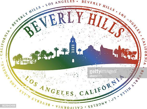 Beverly Hills Cityscape Stamp