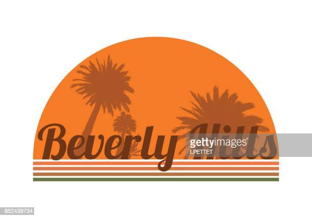 beverly hills - beverly hills california stock illustrations