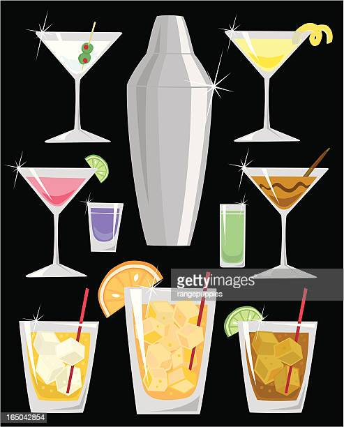 bevved up - vodka drink stock illustrations, clip art, cartoons, & icons