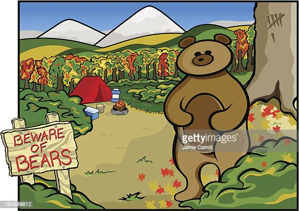 ilustraciones, imágenes clip art, dibujos animados e iconos de stock de cuidado de bears - oso pardo