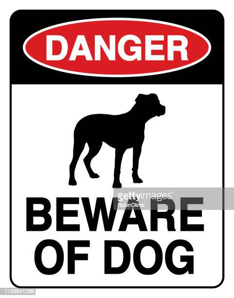 beware of dog sign - safety american football player stock illustrations, clip art, cartoons, & icons