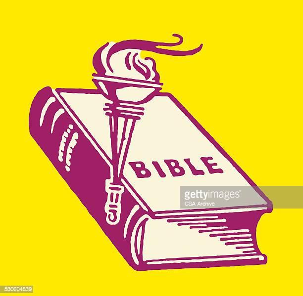 illustrations, cliparts, dessins animés et icônes de bible et torche - impatient