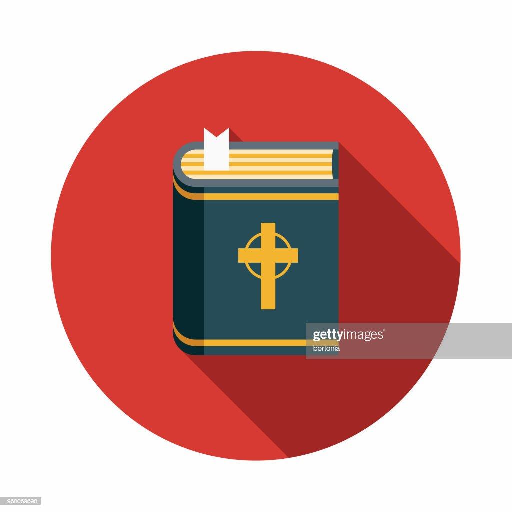 Bibel flache Wahlen Designikone mit Seite Schatten : Stock-Illustration