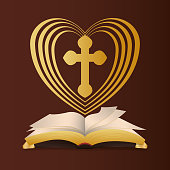 bible heart cross religion wedding