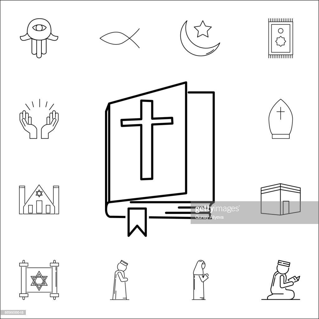 Bible Icon Set Of Religion Icons Web Icons Premium Quality Graphic