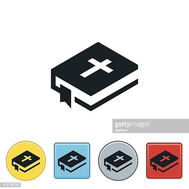 ilustrações, clipart, desenhos animados e ícones de ícone de bíblia - bíblia