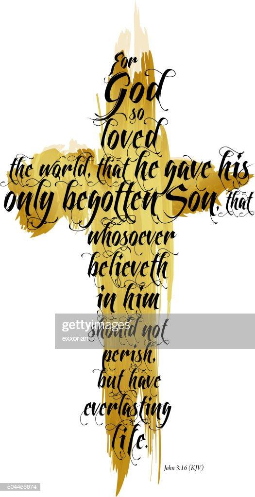 Bible John 3:16 KJV : stock illustration